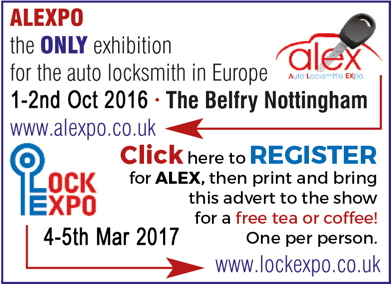 Advert: http://alex.lockexpo.co.uk/visitor-registration/